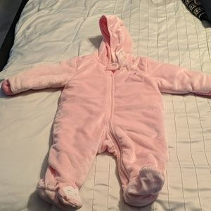 Bunting suit pink